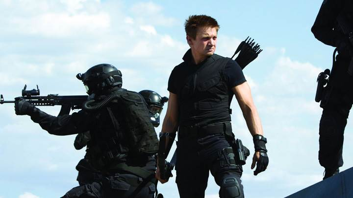 The Avengers – Jeremy Renner In Black Dress Looking Something
