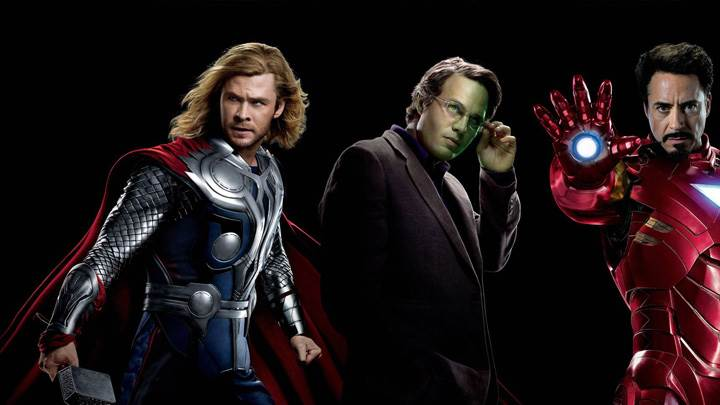 The Avengers – Robert Downey Jr. And Chris Hemsworth N Black Background