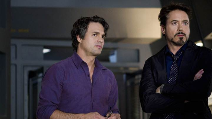 The Avengers – Robert Downey Jr. and Mark Ruffalo Looking At Something