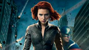 The Avengers – Scarlett Johansson In Black Jacket Looking Front
