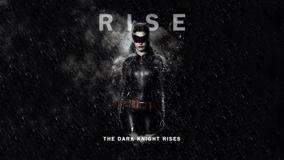The Dark Knight Rises – Anne Hathaway As Catwoman And Rainy Black Background