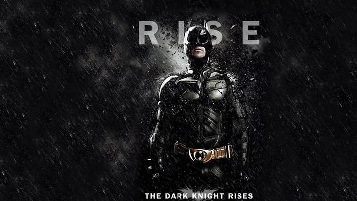 The Dark Knight Rises – Christian Bale As Batman And Black Rainy Background