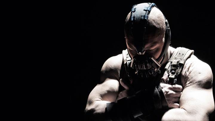 The Dark Knight Rises – Tom Hardy As Bane And Black Background