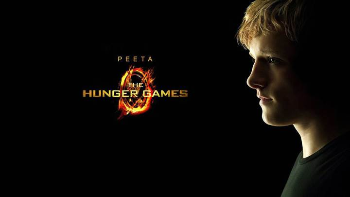 The Hunger Games – Josh Hutcherson As Peeta Mellark Black Background