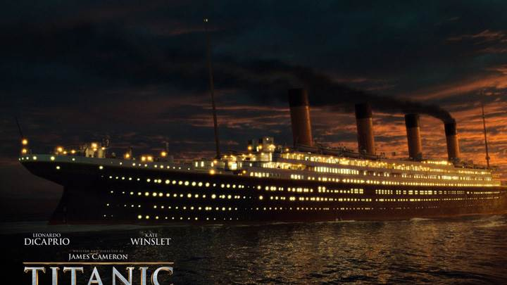 Titanic – Ship At Sunset Time