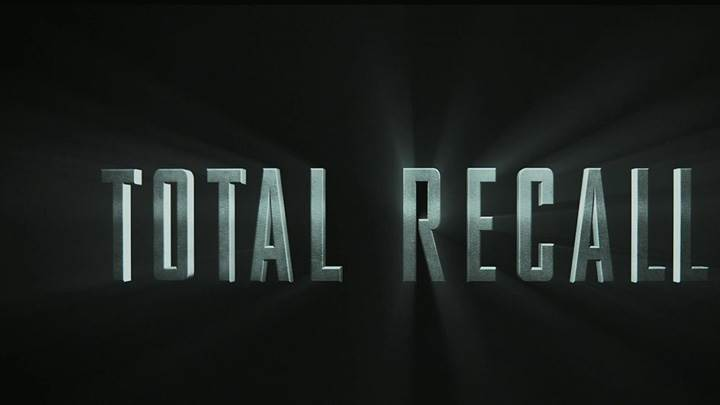 Total Recall – Logo On Black Background