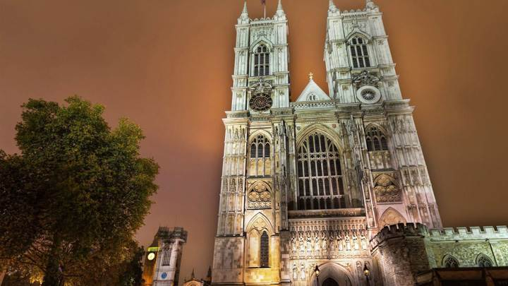 Westminster Abbey Evening Scene