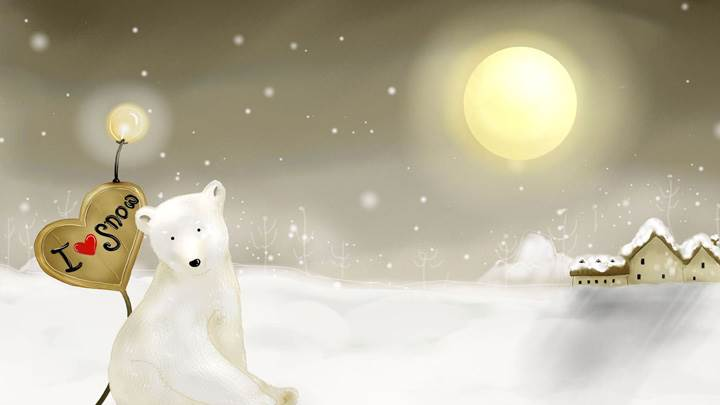 White Bear Love Snow