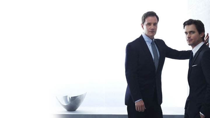 White Collar – Tim DeKay And Matthew Bomer In Black Coat