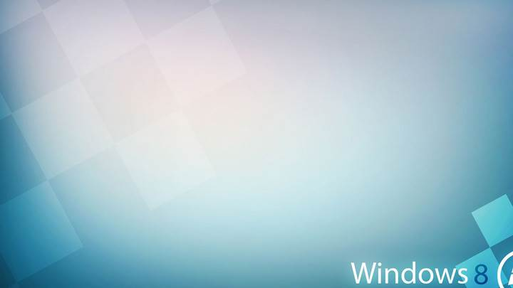 Windows 8 And Blue Background