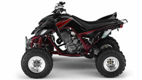 Yamaha 660 Raptor In Black Side Pose On White Background