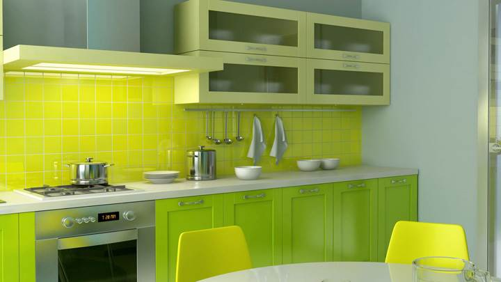 Yellow Interior Looking Nice in Kitchen