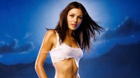 Hot Body Of Silvia Colloca Photoshoot Blue Background