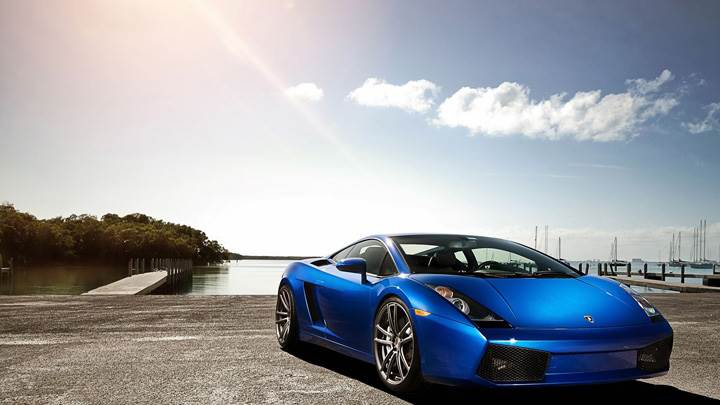 2012 Lamborghini Gallardo LP560  Blue Color Front