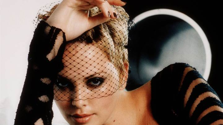 Charlize Theron Looking Front At Christopher Kolk Photoshoot
