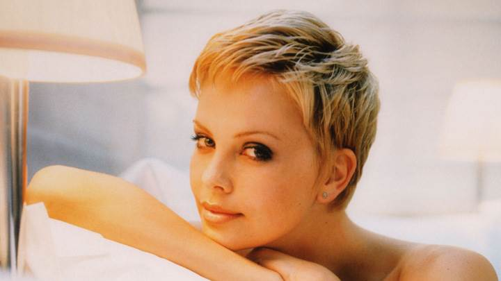 Charlize Theron Smiling Cute Face At Christopher Kolk Photoshoot