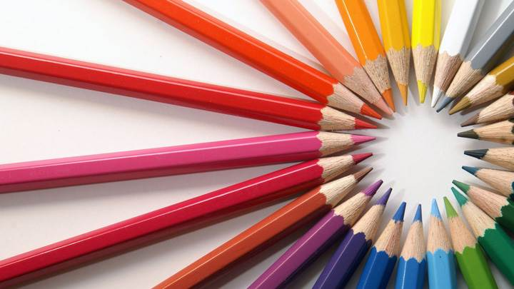 Colorful Pencils Round Design