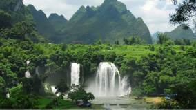 Enjoy The Waterfall In Greenery