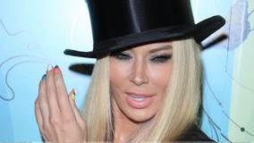 Jenna Jameson In Black Hat At Perez Hilton's 34th Birthday