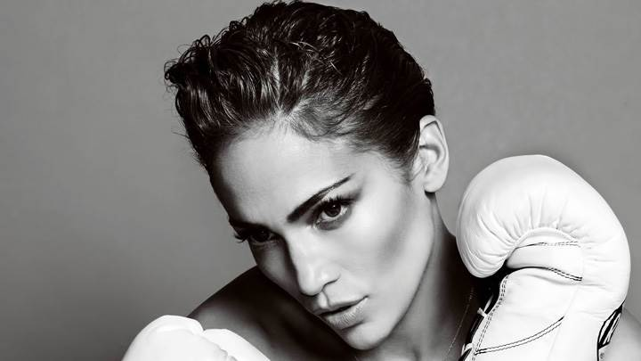 Jennifer Lopez Black N White Face Closeup At Mario Testino Photoshoot