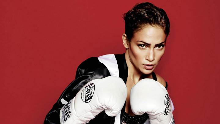 Jennifer Lopez Boxing Gloves In Hand At Mario Testino Photoshoot