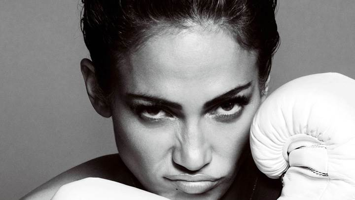 Jennifer Lopez Face Closeup With Boxing Gloves At Mario Testino Photoshoot