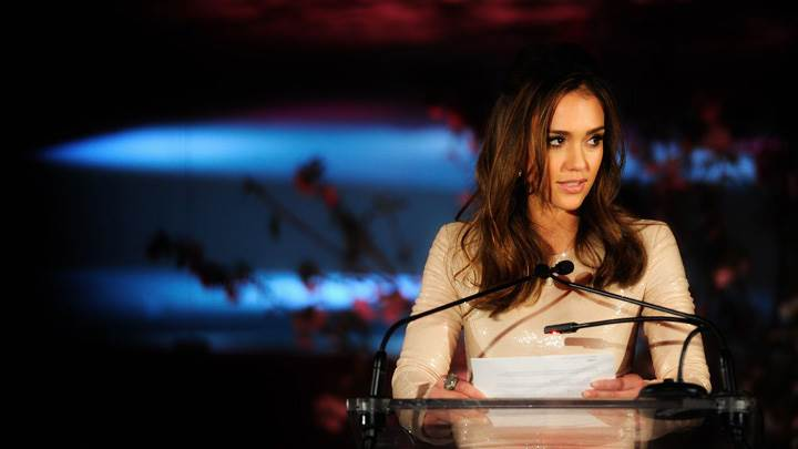 Jessica Alba On Stage At 3rd Annual Diane von Furstenberg Awards