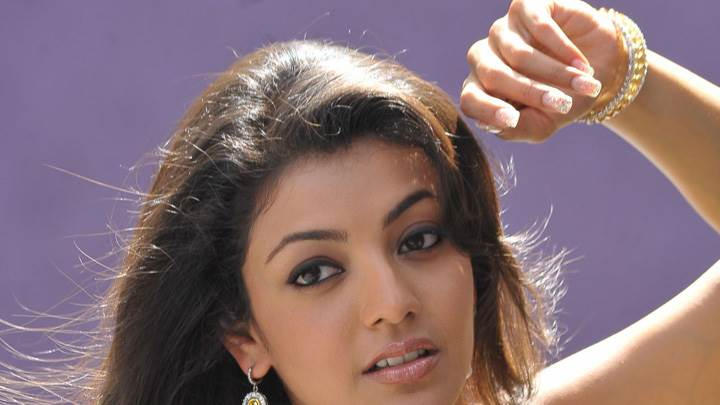 Kajal Aggarwal Cute Eyes N Wet Lips Face Closeup
