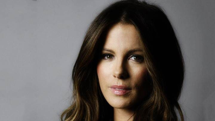 Kate Beckinsale Looking At Camera Face Closeup At LA Times Magazine