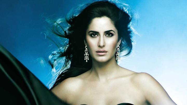 Katrina Kaif In Long Earrings Looking At Camera
