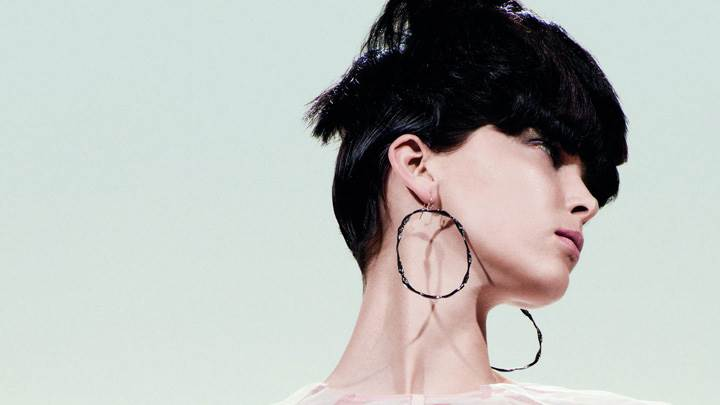 Kristina Salinovic In Long Earings By Tim Barber