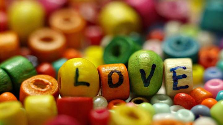 Lots Of Colorful Love Beads