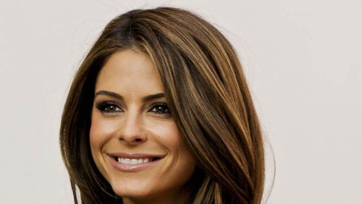 Maria Menounos Smiling Face At Extra at The Grove in LA