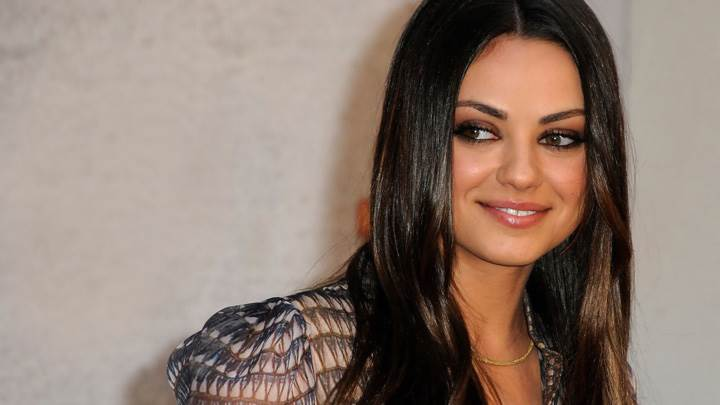 Mila Kunis Looking Side N Sweet Smiling Face Photoshoot
