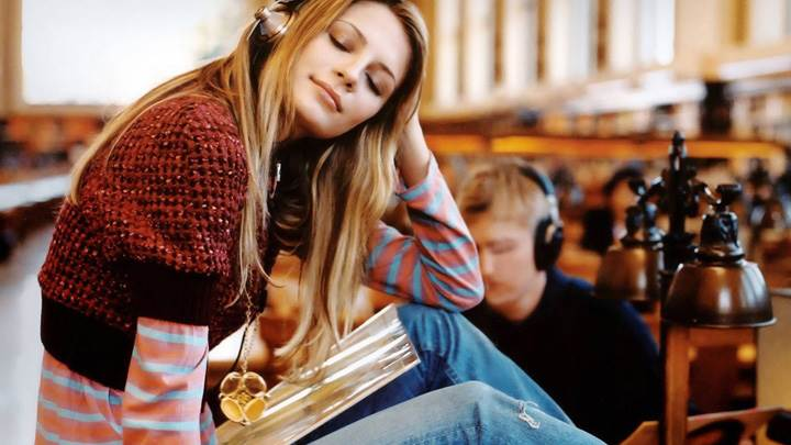 Mischa Barton Closed Eyes N Enjoying Music
