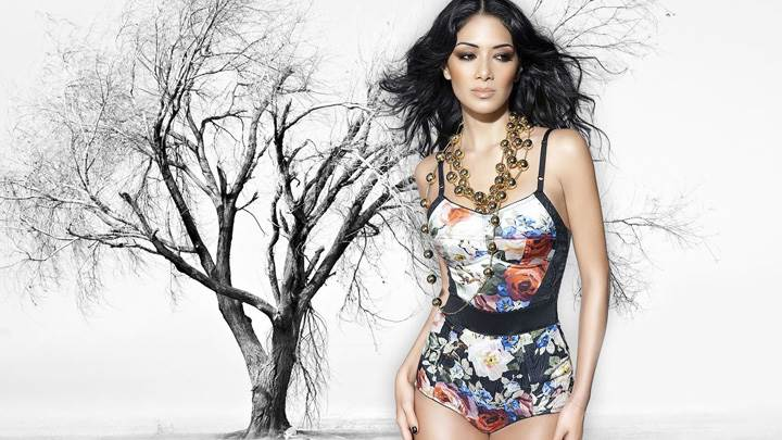 Nicole Scherzinger In Colorful Dress Nice Looking Photoshoot