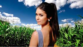 Nina Dobrev Looking Back Innocent Face Photoshoot