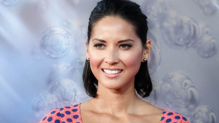 Olivia Munn Smiling Pink Lips Photoshoot