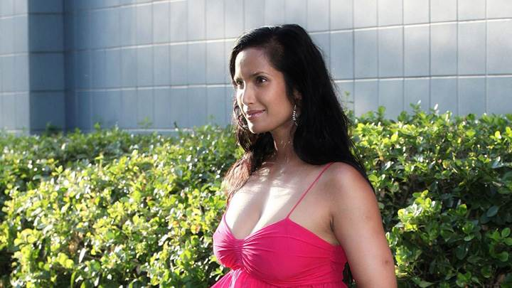 Padma Lakshmi Side Pose At 2012 Time For Change New York Premiere