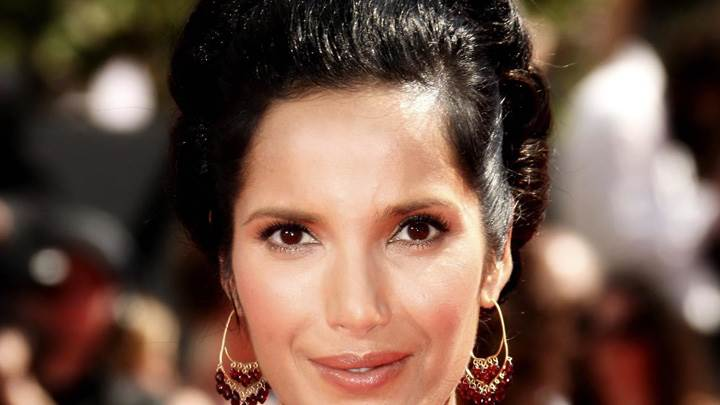 Padma Lakshmi Smiling At 61st Primetime Emmy Awards