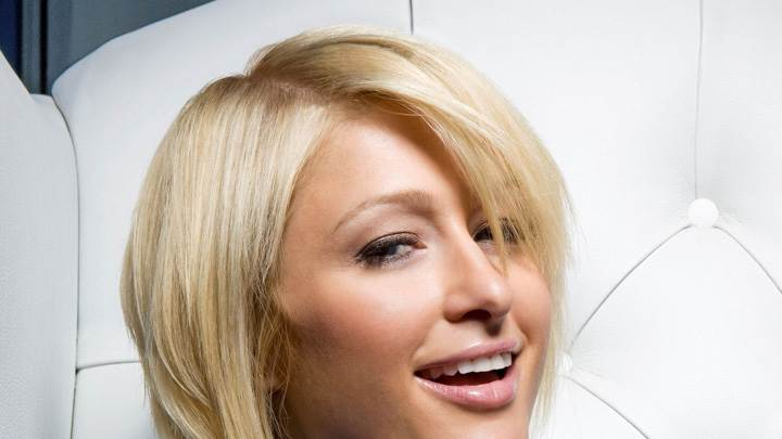 Paris Hilton Open Mouth At Catherine Ledner Photoshoot for ELLE