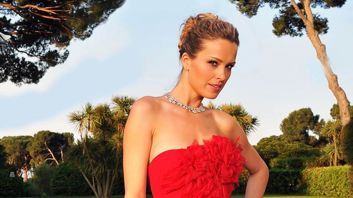 Petra Nemcova Modeling Pose In Red Dress