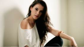 Pilar Alexandria Sitting In White Top Photoshoot