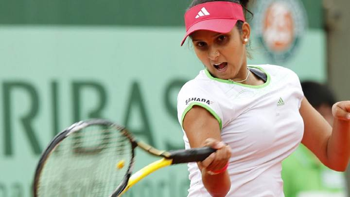 Sania Mirza Playing In Sports Dress Photoshoot
