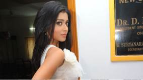 Shriya Saran Side Pose At Nuvva Nena Press Meet