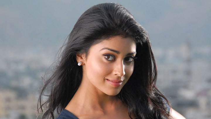Shriya Saran Sweet Smiling Pose In Nuvva Nena