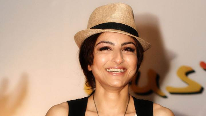 Soha Ali Khan Laughing At the Canon Photo Marathon Event