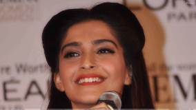 Sonam Kapoor Smiling Face Closeup At Femina Awards 2012 Press Meet