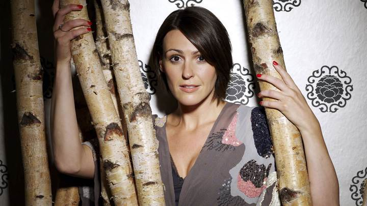 Suranne Jones In Grey Dress At Mike Owen Photoshoot
