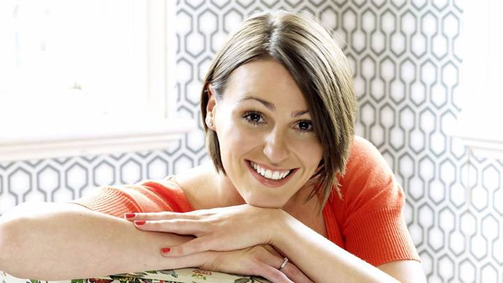 Suranne Jones Smiling Cute Pose At Mike Owen Photoshoot